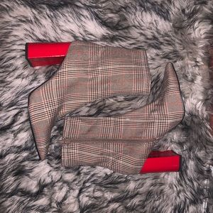 Jeffrey Campbell Plaid Booties
